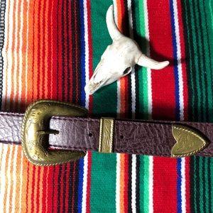 Vintage Boho Western Vegan Belt Size 26